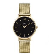 CLUSE Minuit Mesh Gold Plated Black black gold plated (CW0101203017)