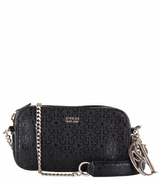 Tamra Crossbody Camera Bag black Guess | The Little Green Bag