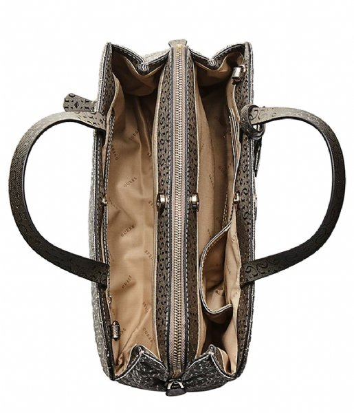 5897ab477d Gioia Girlfriend Satchel pewter Guess | The Little Green Bag