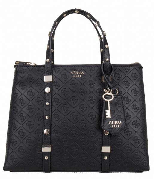 Coast to Coast Status Satchel black Guess | The Little Green Bag